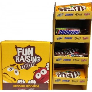 m&m's & SNICKERS BOX DISPLAY 1/40