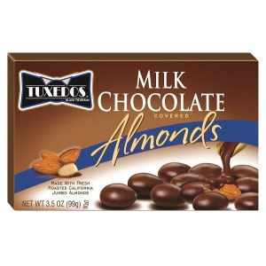 TUXEDOS MILK CHOCOLATE ALMONDS 1/48